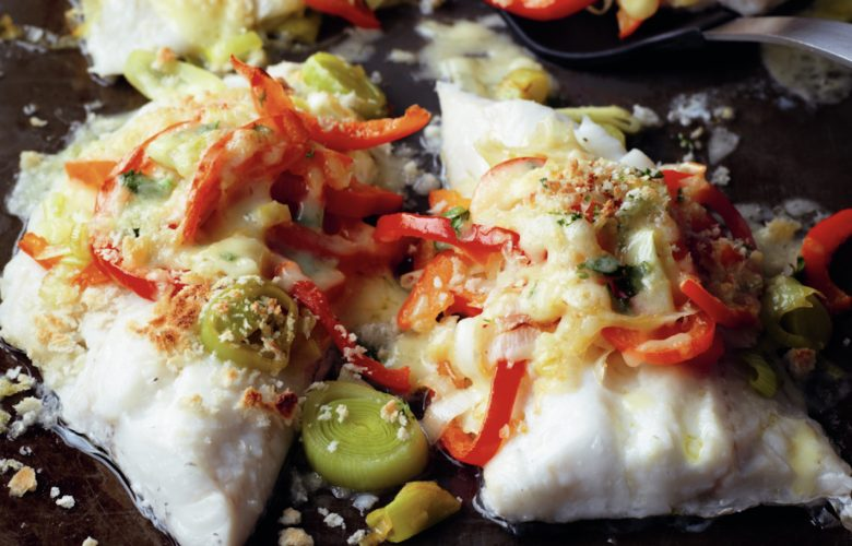 Plaice-Fillets-with-Leek-and-Cheddar-Topping