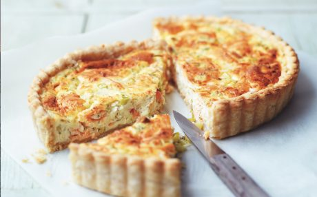 Cheshire Cheese and Smoked Salmon Quiche