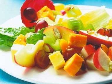Port Wine Derby Fruity Cheese Salad