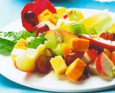Port Wine Derby Fruity Cheese Salad